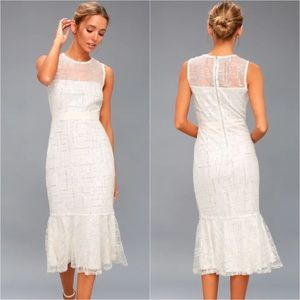"Lulu ""Classy Missy"" Peplum Midi Sequin Shiny Dress"